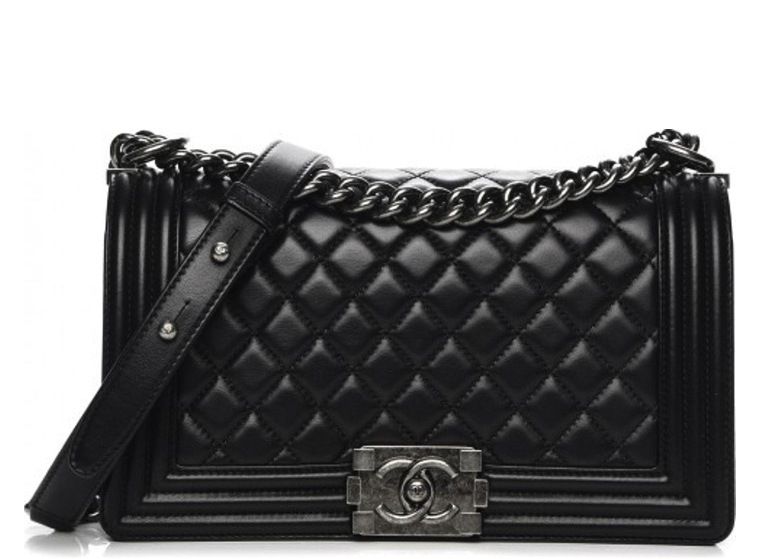 Chanel Boy Flap Quilted Lambskin Medium Black