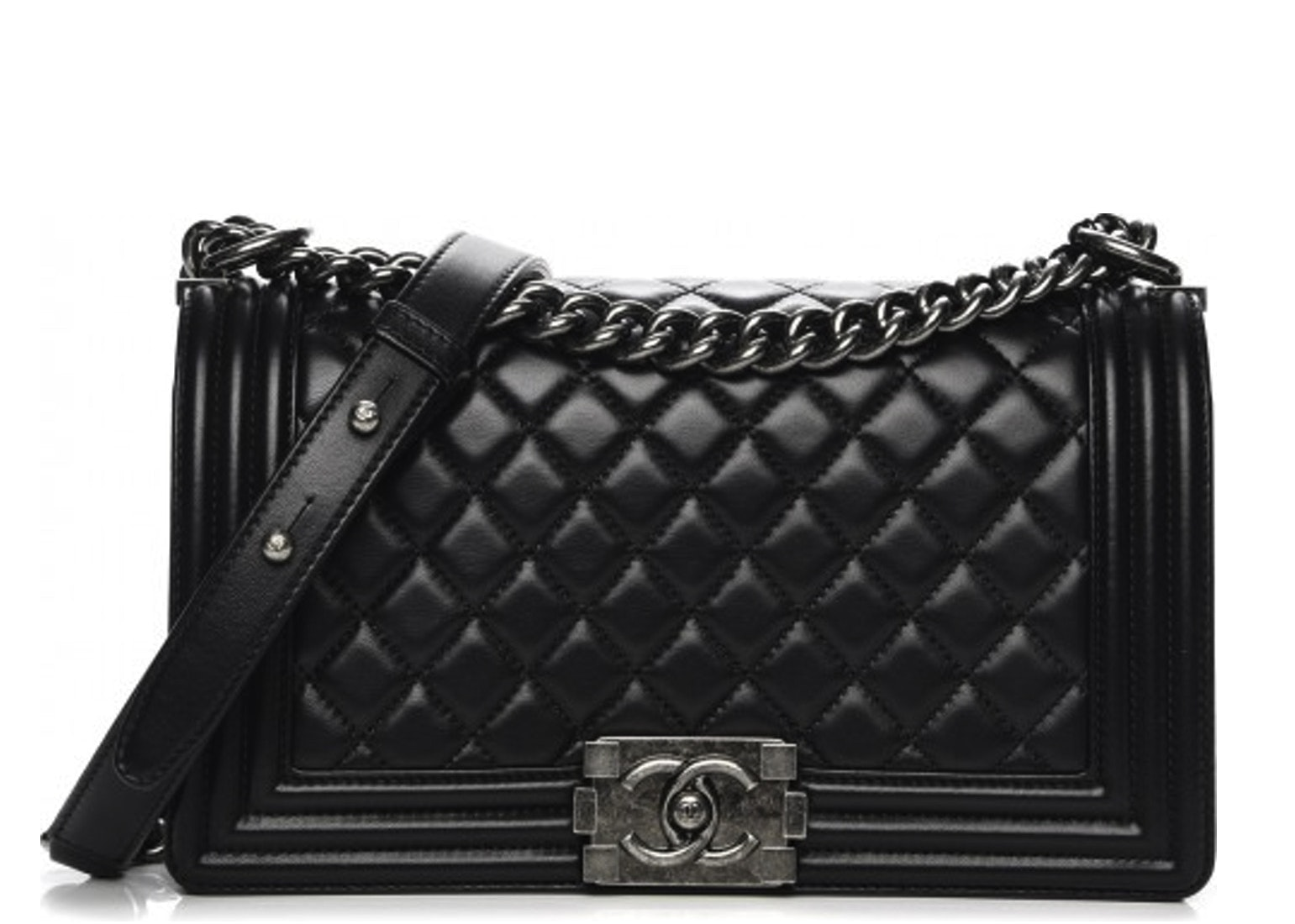 Chanel Boy Flap Quilted Lambskin Medium Black