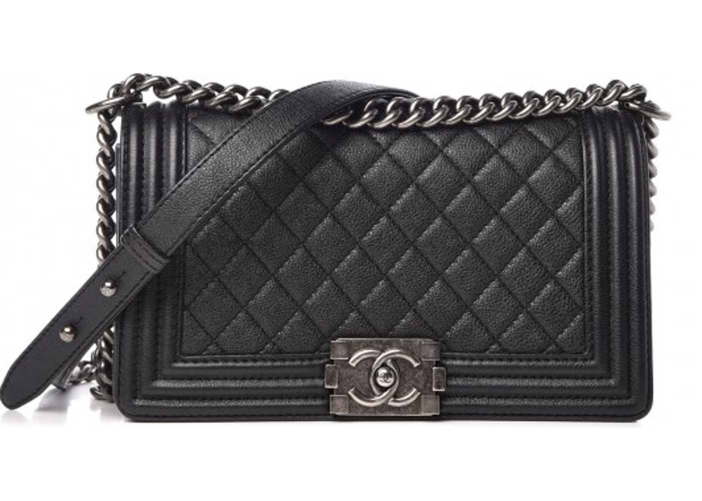 73c2e23fa4bf Chanel Boy Flap Quilted Large Black