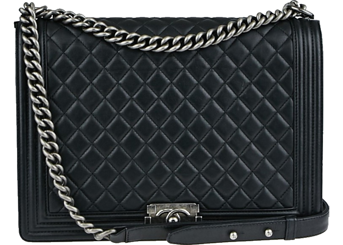 1de212c1b7ce Sell. or Ask. View All Bids. Chanel Boy Flap Quilted Large Black