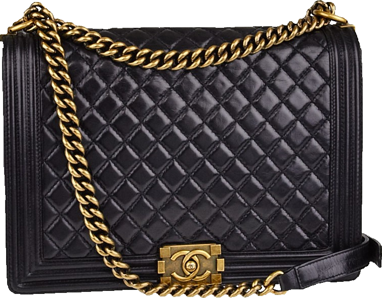 Chanel Boy Flap Quilted Large Black