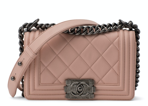 75dcb69cd84c Chanel Boy Flap Quilted Large Stitch Small Dusty Rose