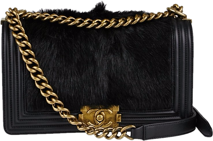 Chanel Boy Flap Salzburg Quilted Medium Black