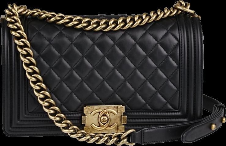 Chanel Boy Flap Quilted Medium Black