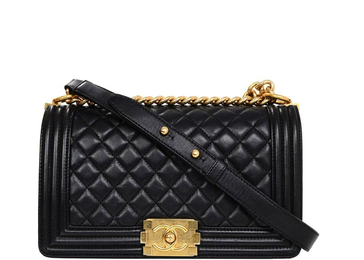 38bce7a3e9ca Chanel Boy Flap Quilted Medium Black