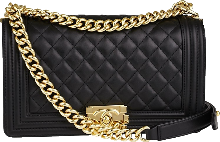 Chanel Boy Flap Quilted Medium Black