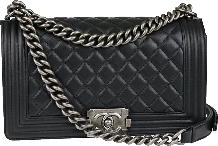 Chanel Boy Flap Quilted Calfskin Medium Black