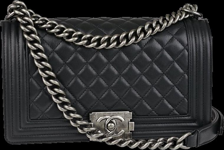 Chanel Boy Flap Quilted Calfskin Medium Black