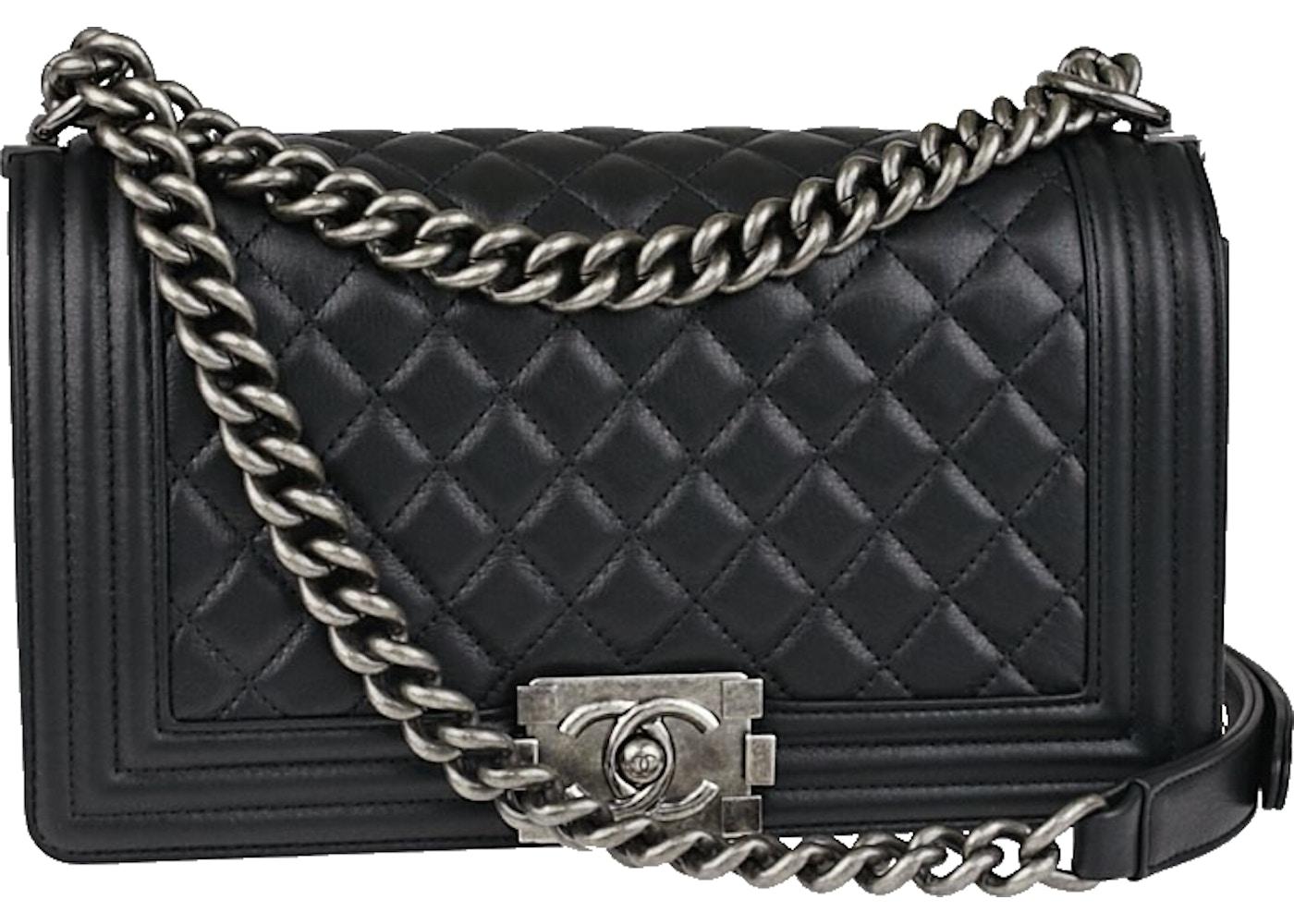 5acd347ccf56 Chanel Boy Flap Quilted Calfskin Medium Black