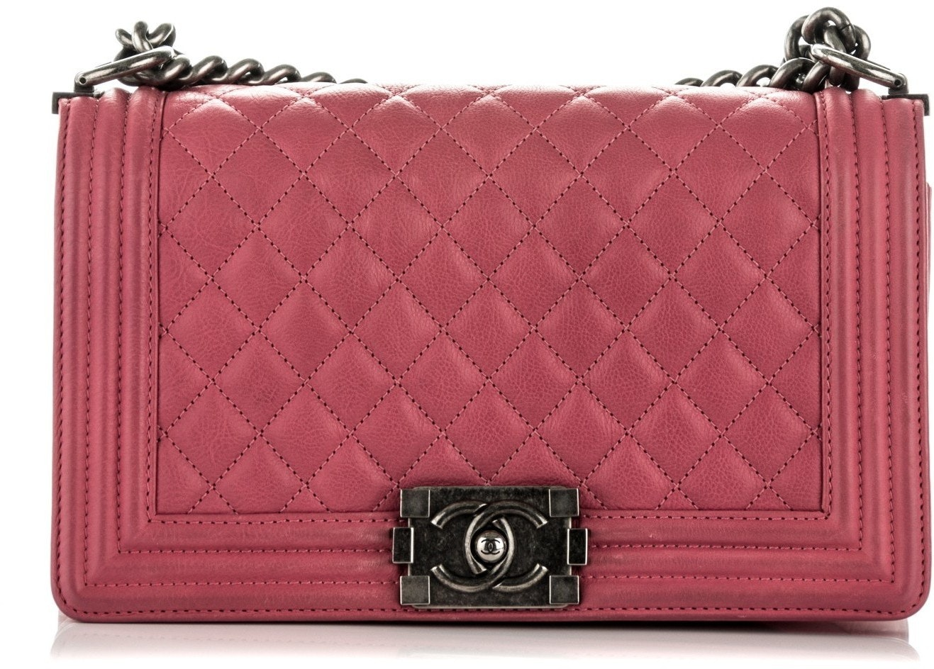 Chanel Boy Flap Quilted Medium Pink