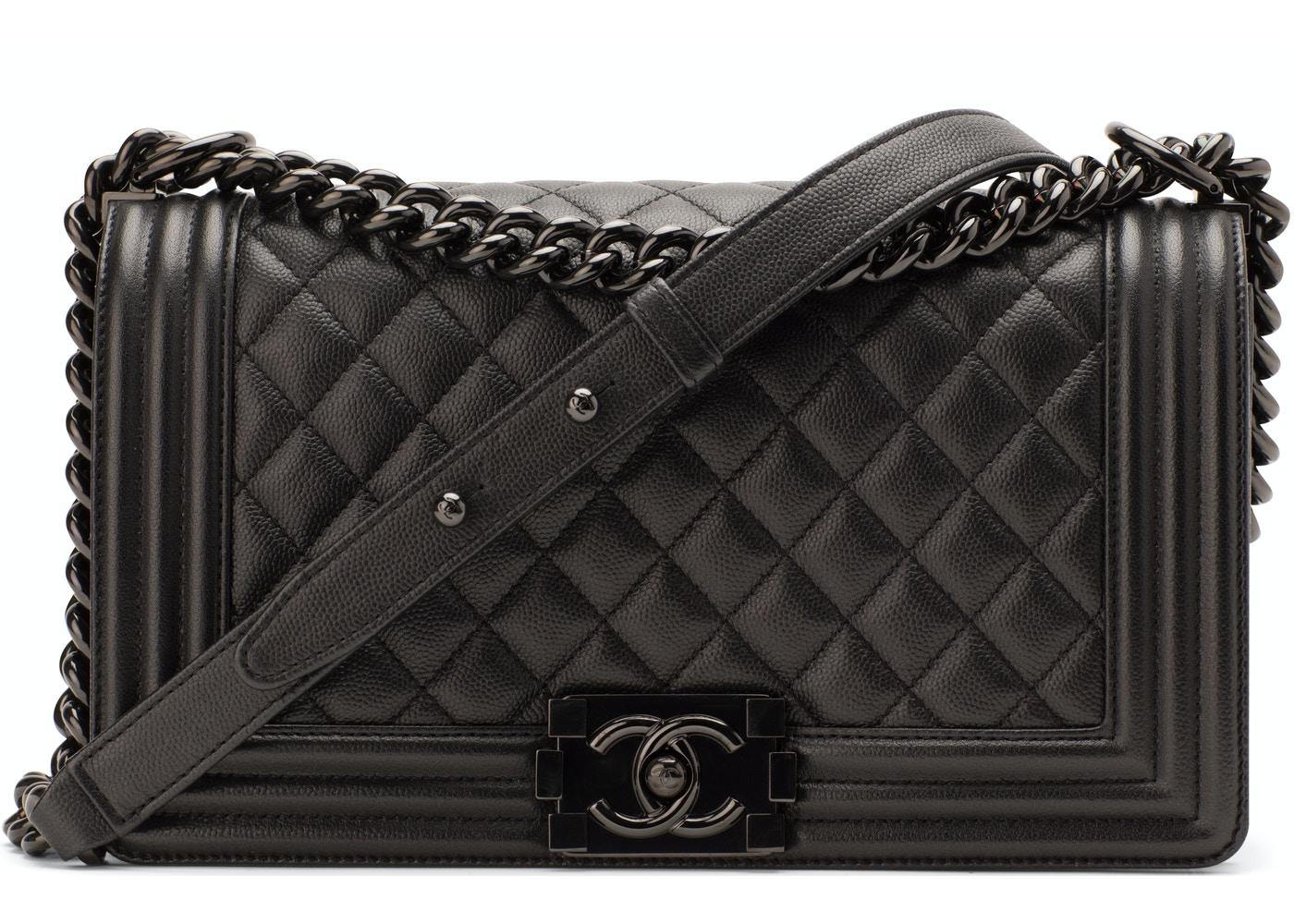 915f7fd9c6c51c Chanel Boy Flap Quilted Medium So Black
