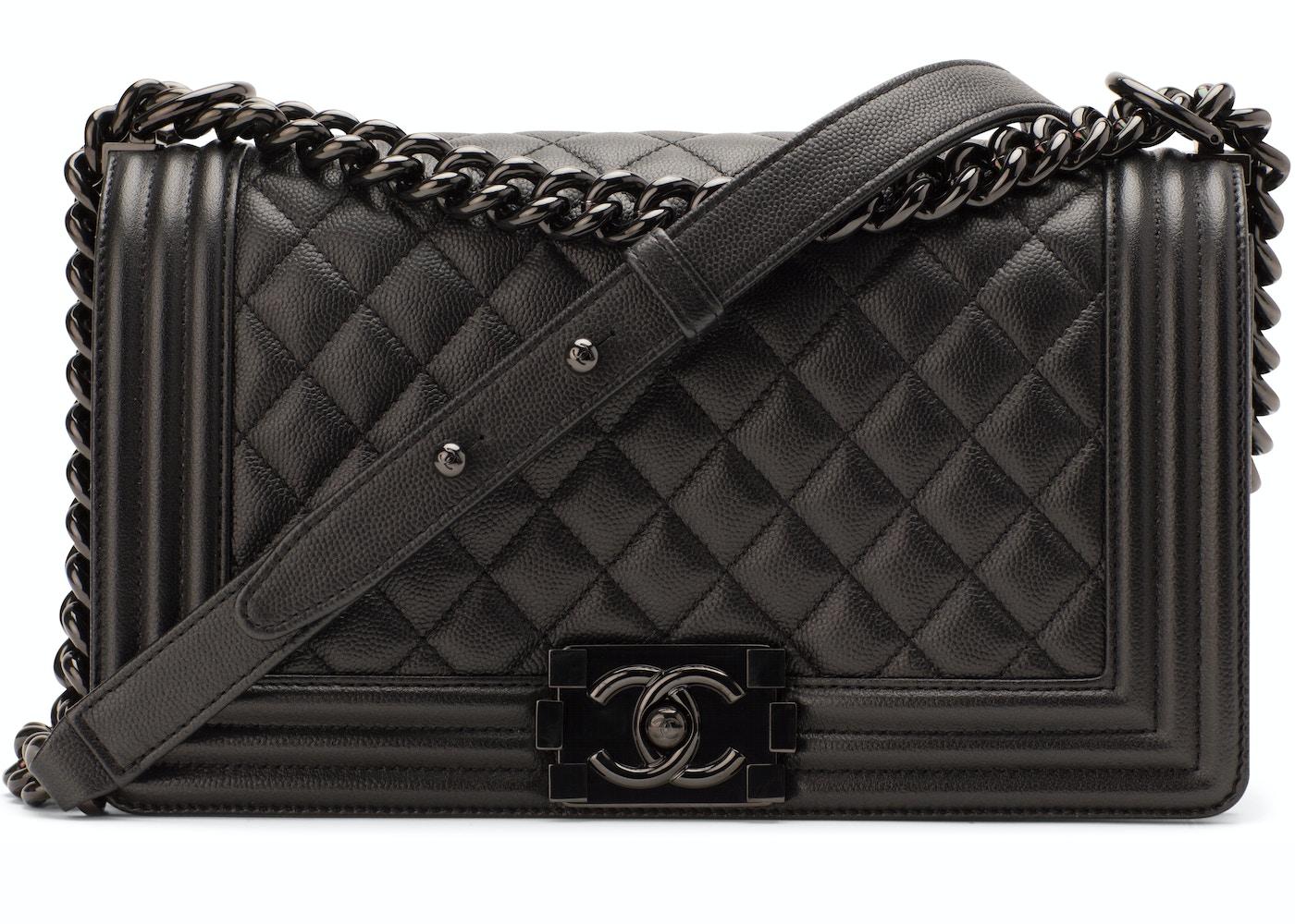 802035f13e Chanel Boy Flap Quilted Medium So Black