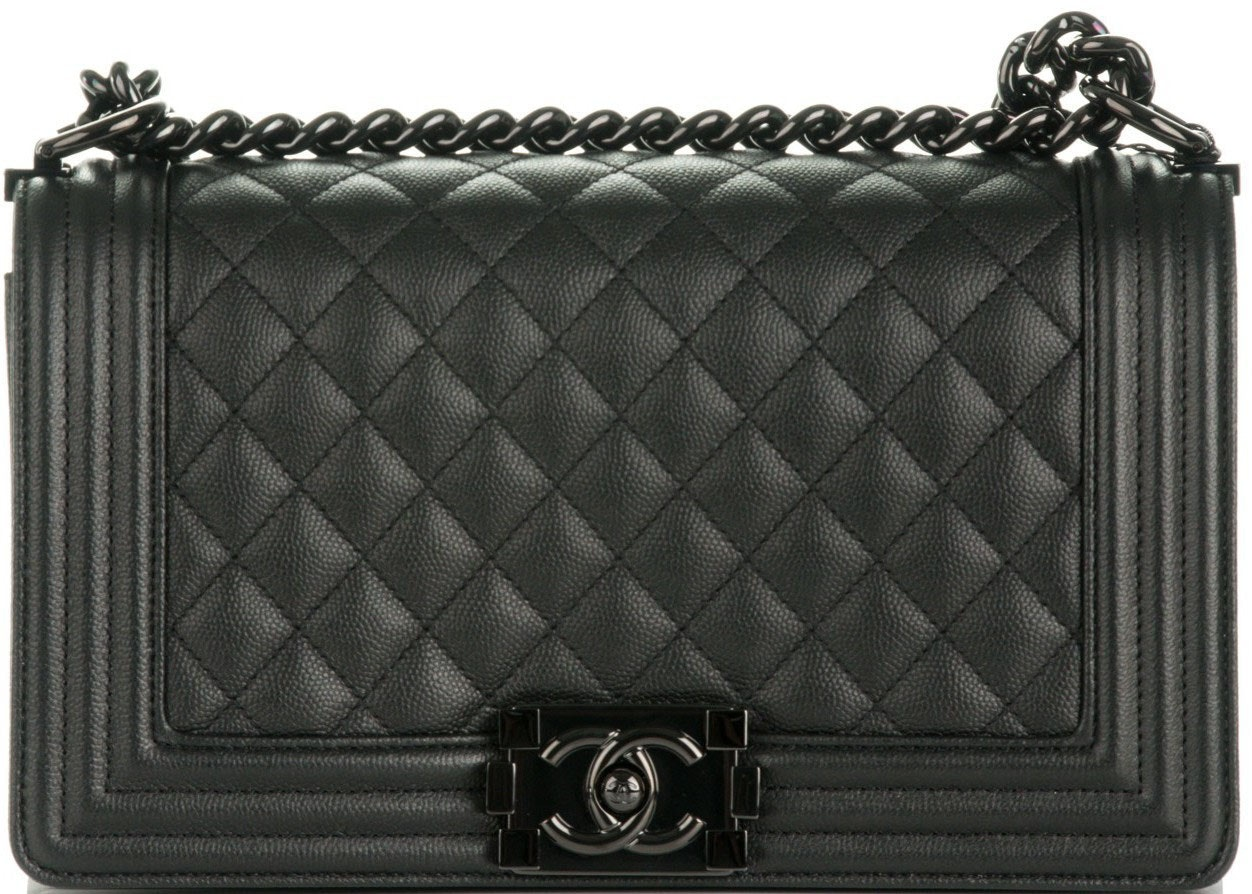 Chanel Boy Flap Quilted Medium So Black