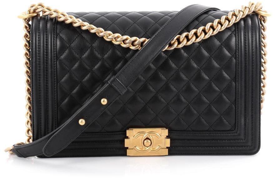 Chanel Boy Flap Quilted New Medium Black