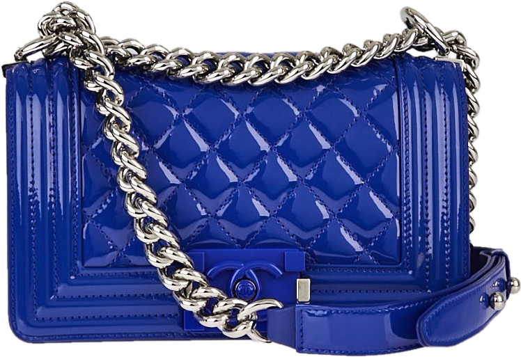 Chanel Boy Flap Quilted Small Bright Blue