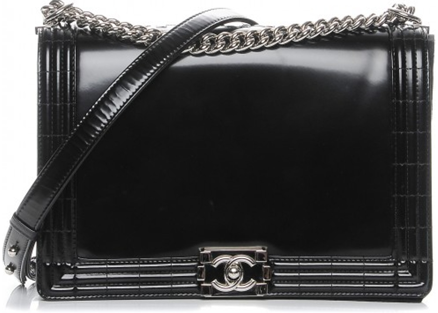 62e67cb22a35 Chanel Reverso Boy Flap Glazed Large Black. Glazed Large Black