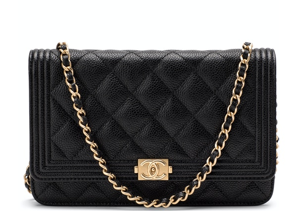 ac1cd4626d654 Chanel Boy Wallet On Chain Quilted Black Army Green