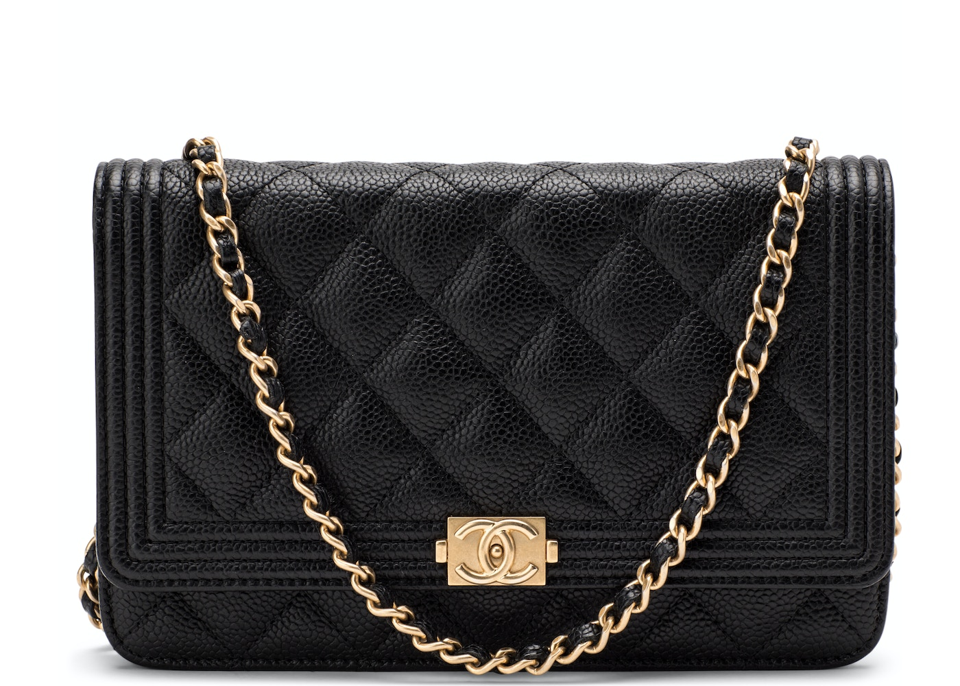 1327d916345e Chanel Boy Wallet On Chain Quilted Black/Army Green. Quilted Black/Army  Green