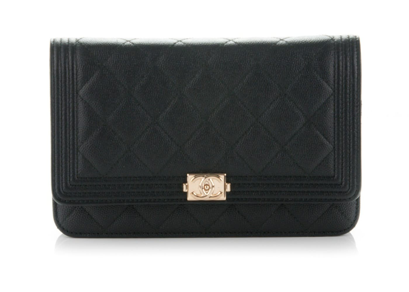 89265098ff66 Chanel Boy Wallet On Chain Quilted Black