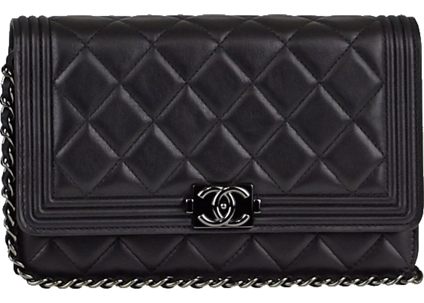 eaf3db6b3207 Sell. or Ask. View All Bids. Chanel Boy Wallet On Chain Quilted Black