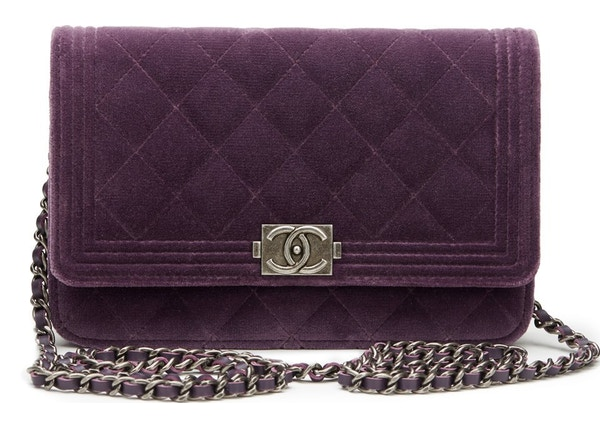 3ae1e6a9e875 Chanel Boy Wallet On Chain Quilted Violet