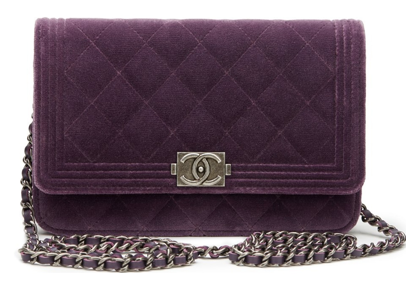 97b3d364e7fe3f Chanel Boy Wallet On Chain Quilted Violet. Quilted Violet