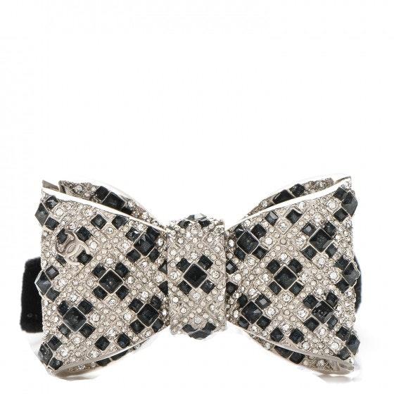 Chanel CC Bow Bracelet Crystal