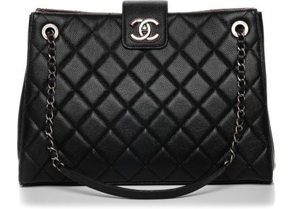 ea8a474e47cb Chanel Shopping CC Accordion Diamond Quilted Large Black