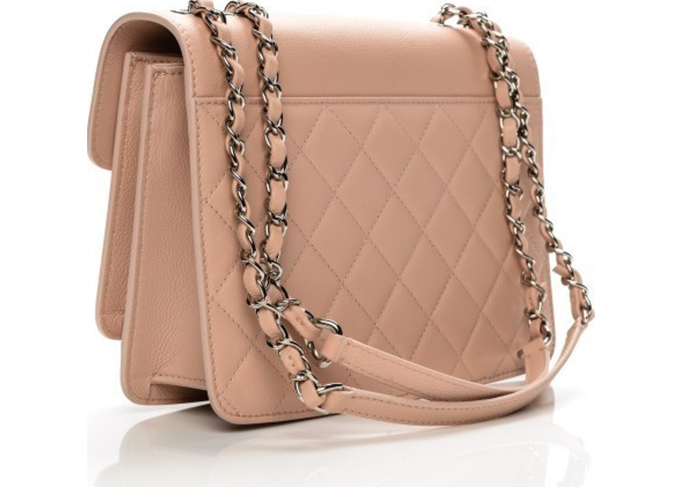 ebbec9f64b1c Chanel Flap CC Box Quilted Grained Large Ligth Pink