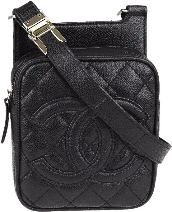 Chanel CC Crossbody Quilted Black