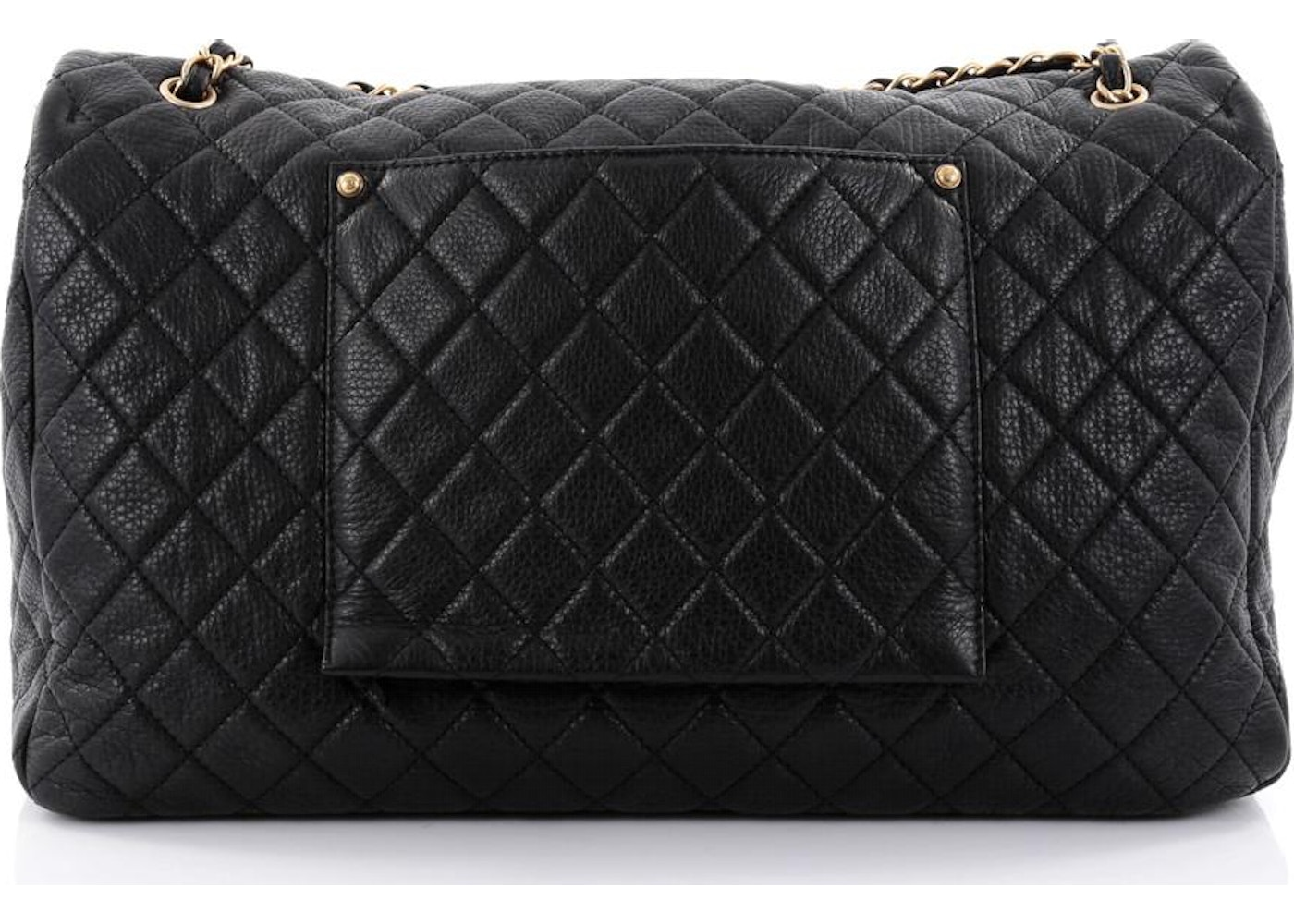 f71f426123c4 Chanel CC Flap Diamond Airlines Quilted XXL Black