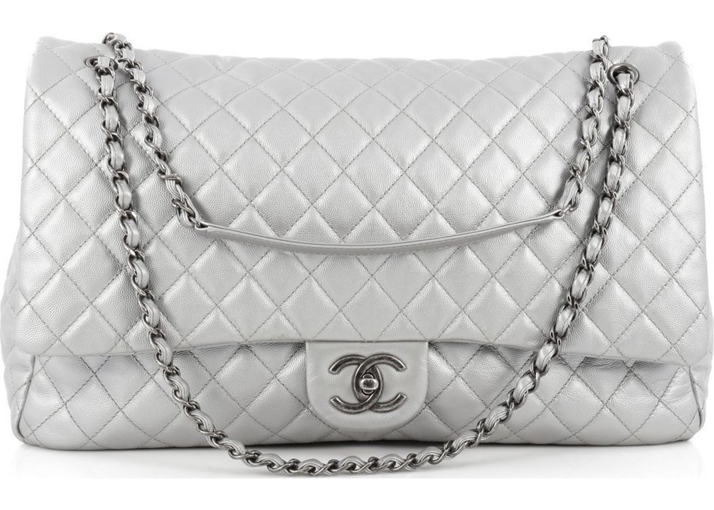 4b086d66902e Chanel CC Flap Airlines Quilted XXL Silver. Airlines Quilted XXL Silver