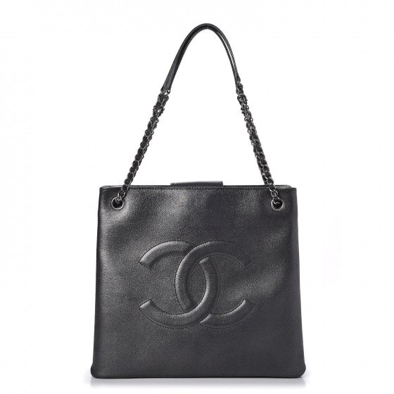 Chanel CC Shopping Tote Iridescent Grey