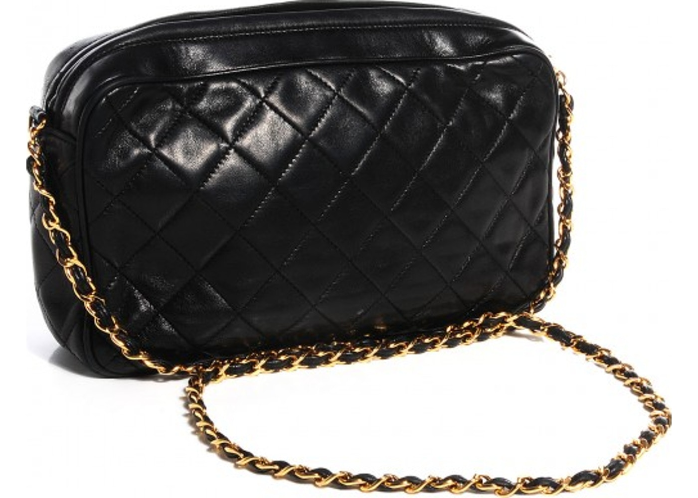 d96174a7f604 Chanel CC Vintage Camera Bag Quilted Black
