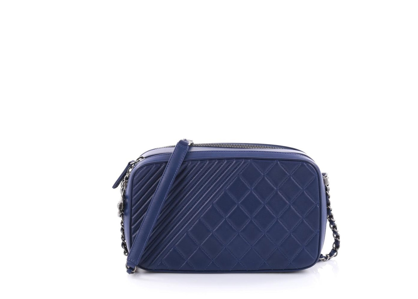 088f822d87c1ad Chanel Coco Boy Camera Bag Quilted Diagonal/Diamond Large Blue. Quilted  Diagonal/Diamond Large Blue