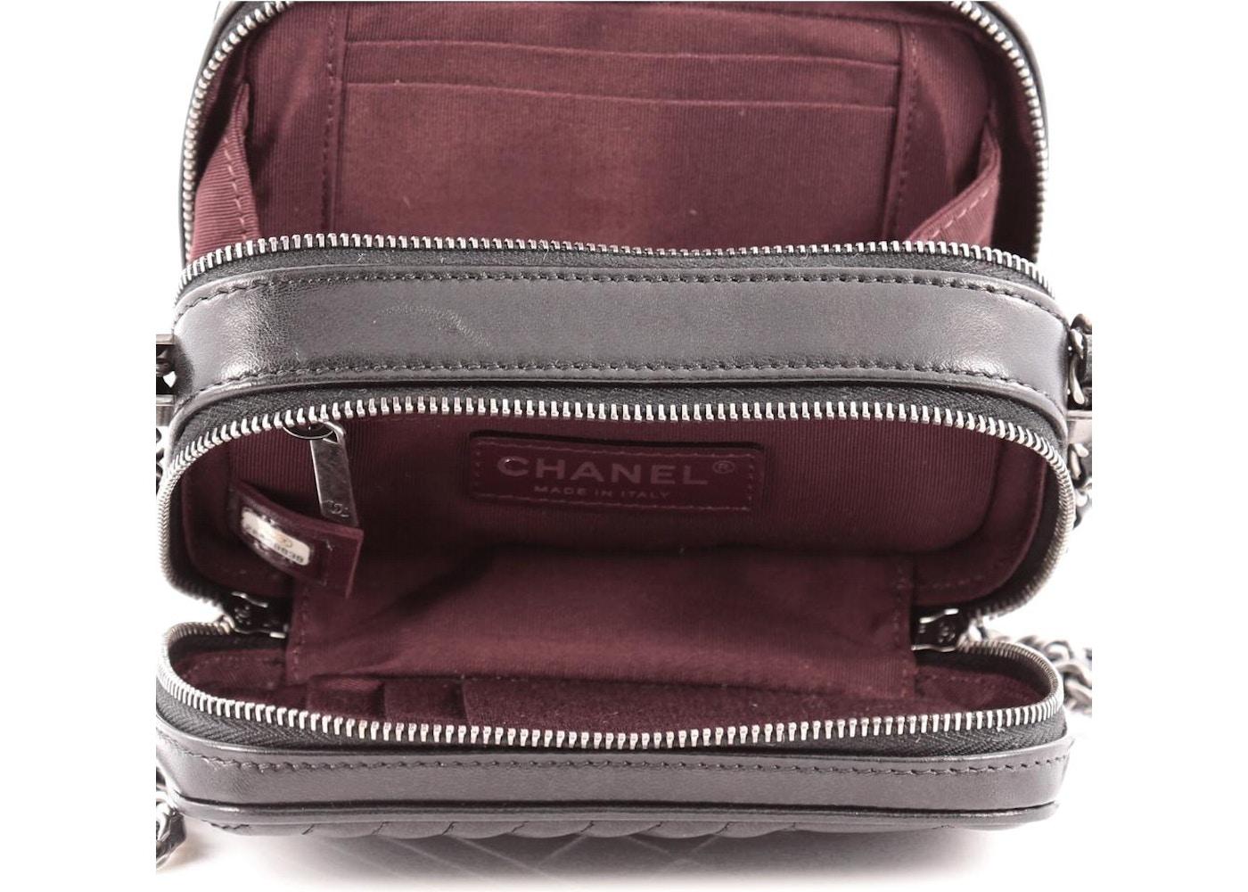 b57e25617b18 Chanel Coco Boy Camera Bag Quilted Diagonal/Diamond Mini Black
