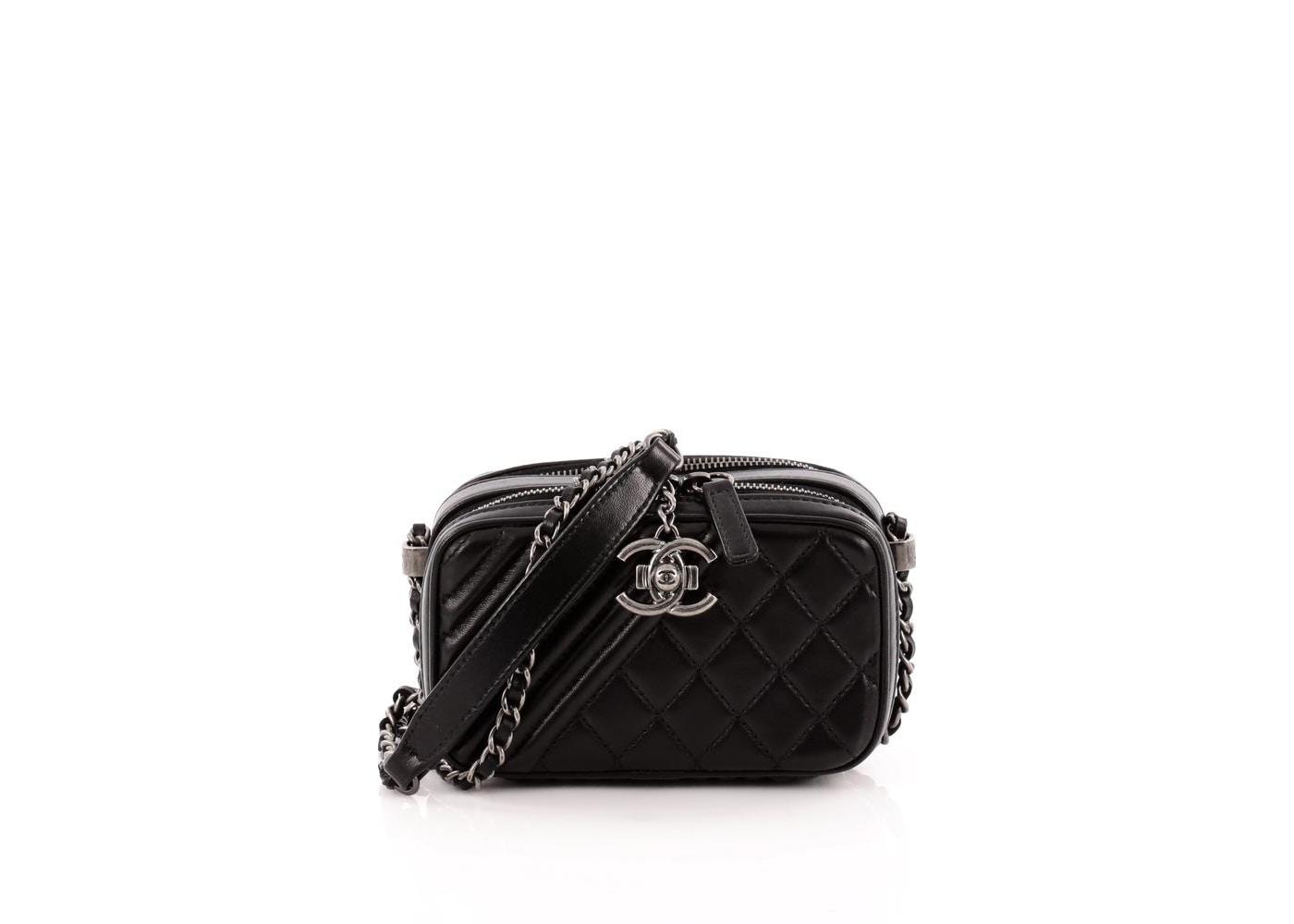 dda093743283 Chanel Coco Boy Camera Bag Quilted Diagonal Diamond Mini Black. Quilted  Diagonal Diamond Mini Black