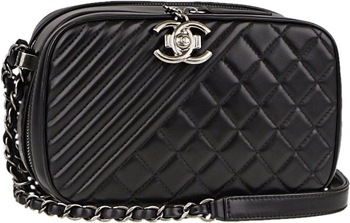 Chanel Camera Bag Coco Boy Quilted Small Black