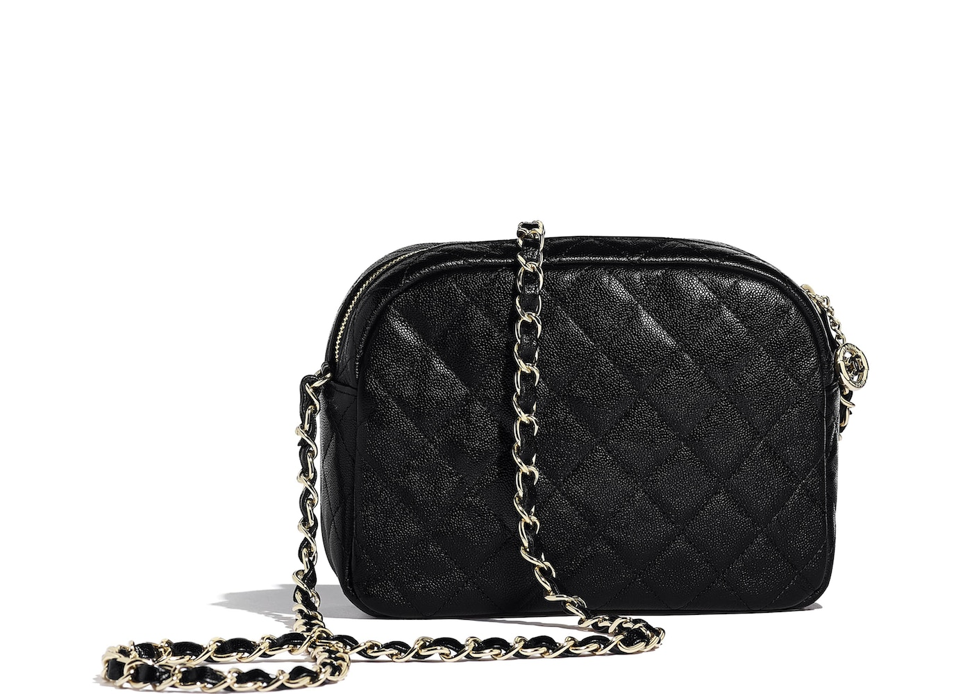 763b59194b2c Chanel Camera Case Quilted Grained Calfskin Gold-tone Black