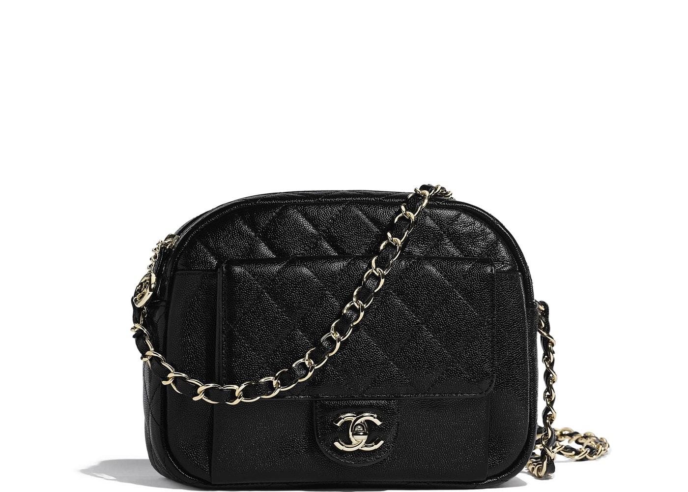 0703370dc2ad Chanel Camera Case Quilted Grained Calfskin Gold-tone Black. Quilted  Grained Calfskin Gold-tone Black