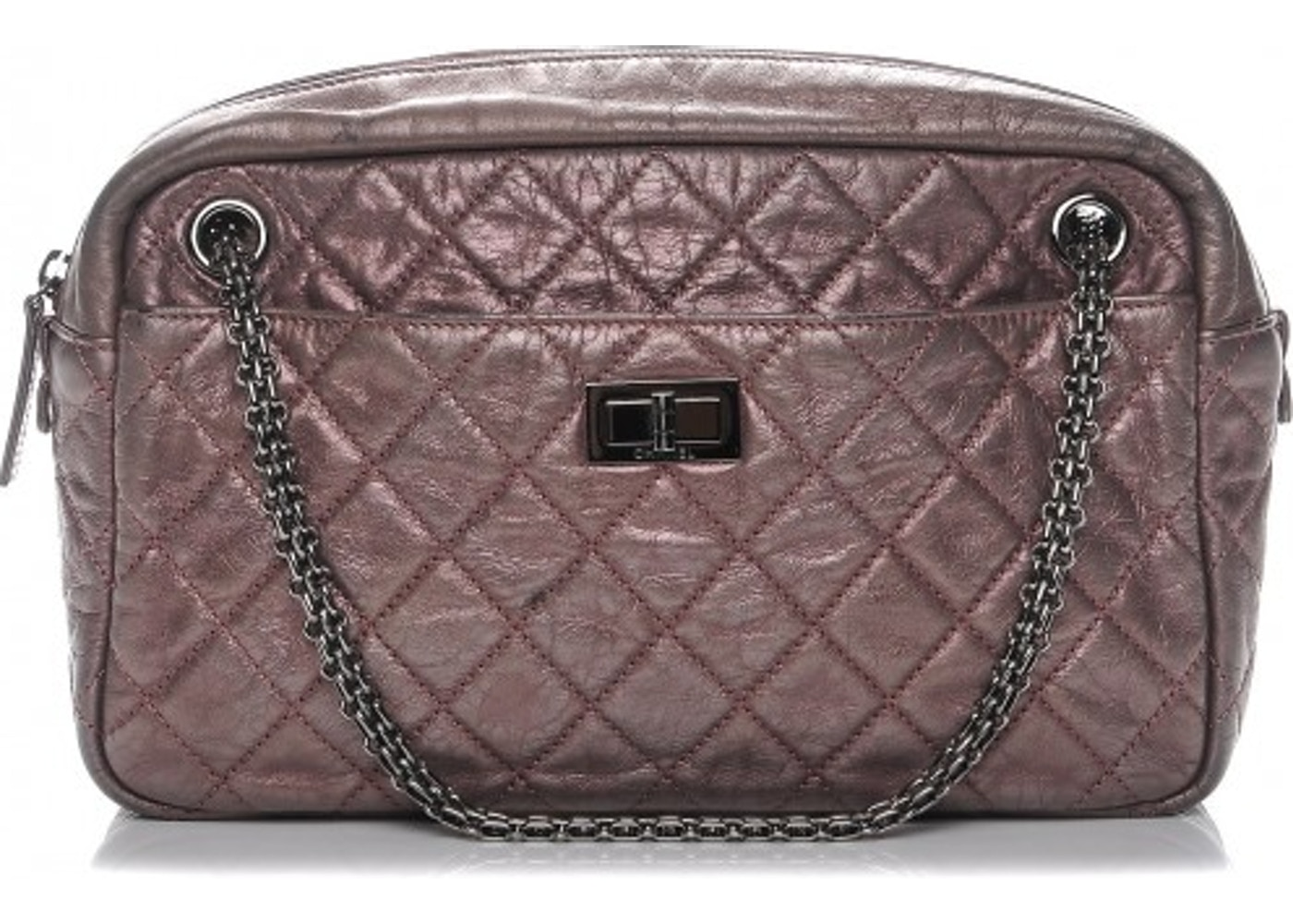 2a69e288758e14 Chanel Reissue Camera Case Diamond Quilted Aged Large Metallic Pink.  Diamond Quilted Aged Large Metallic Pink