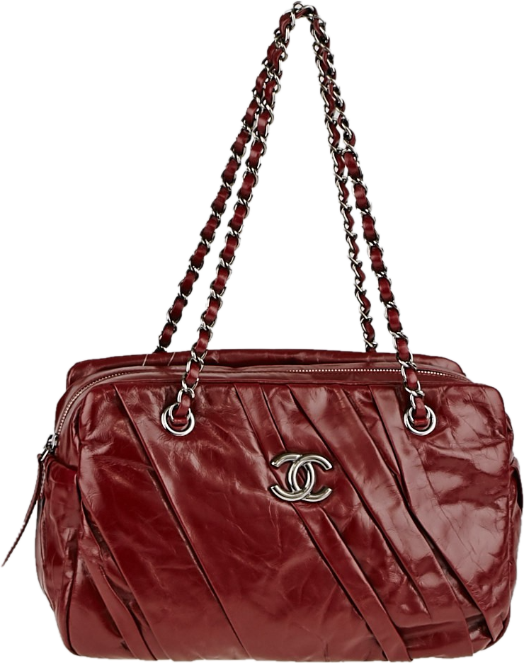 Chanel Camera Case Twisted Glazed Red