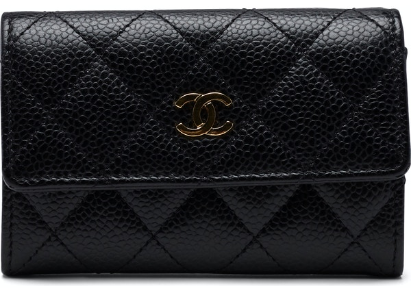 beadcad4165c Chanel CC Card Holder Quilted Diamond Black