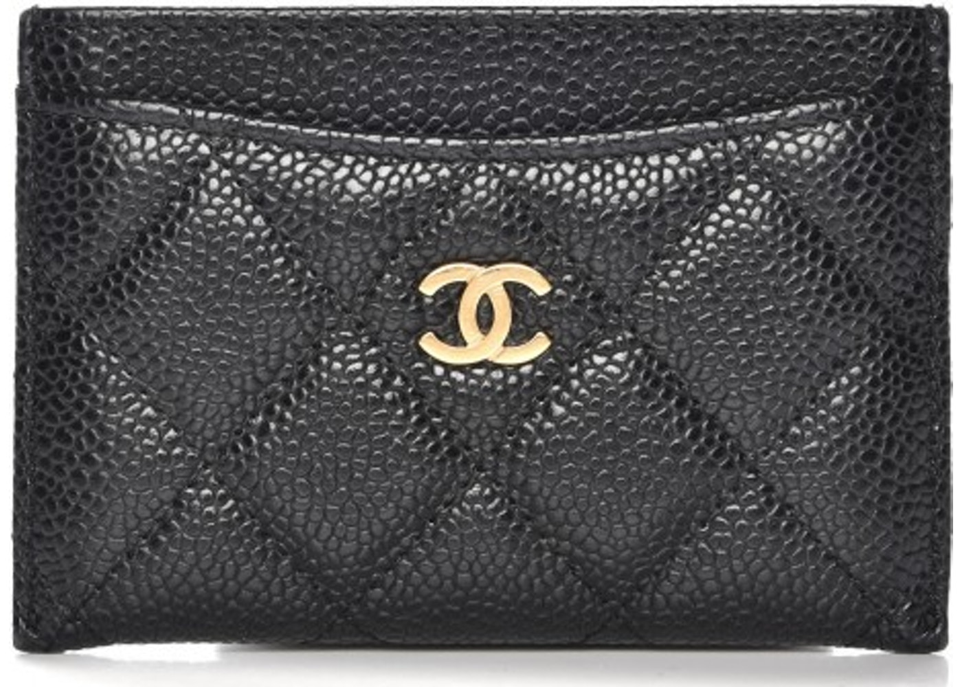 4e0123441085 Chanel CC Card Holder Quilted Diamond Black. Quilted Diamond Black