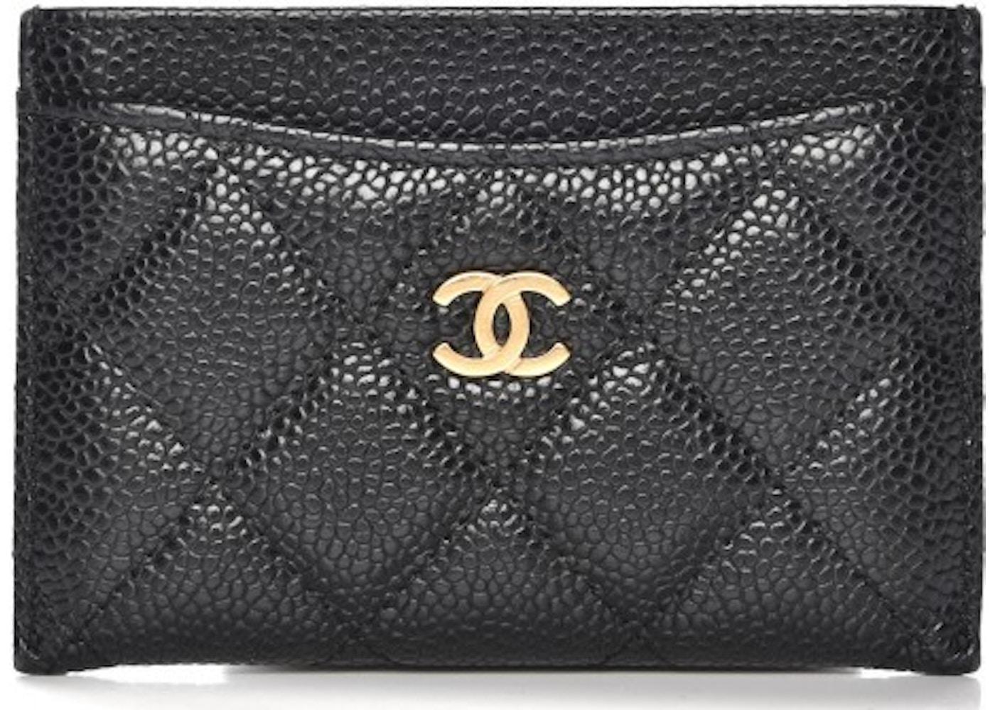 4653e9cbfeb9 Chanel CC Card Holder Quilted Diamond Black. Quilted Diamond Black
