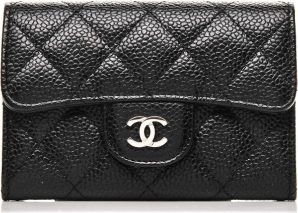 c24cecfd697b Chanel Card Holder Quilted Diamond Black