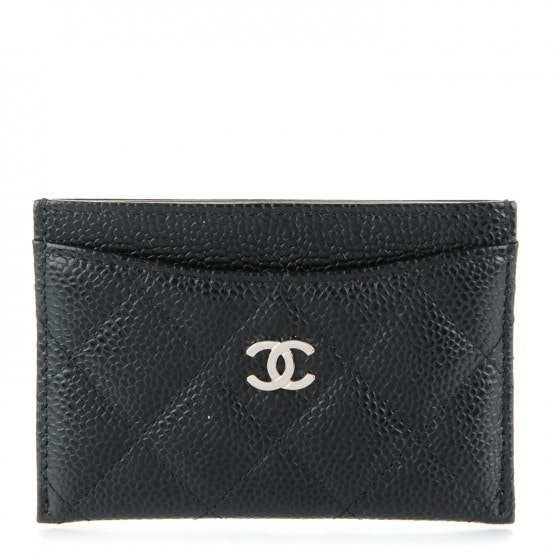 Chanel Card Holder Diamond Quilted Black