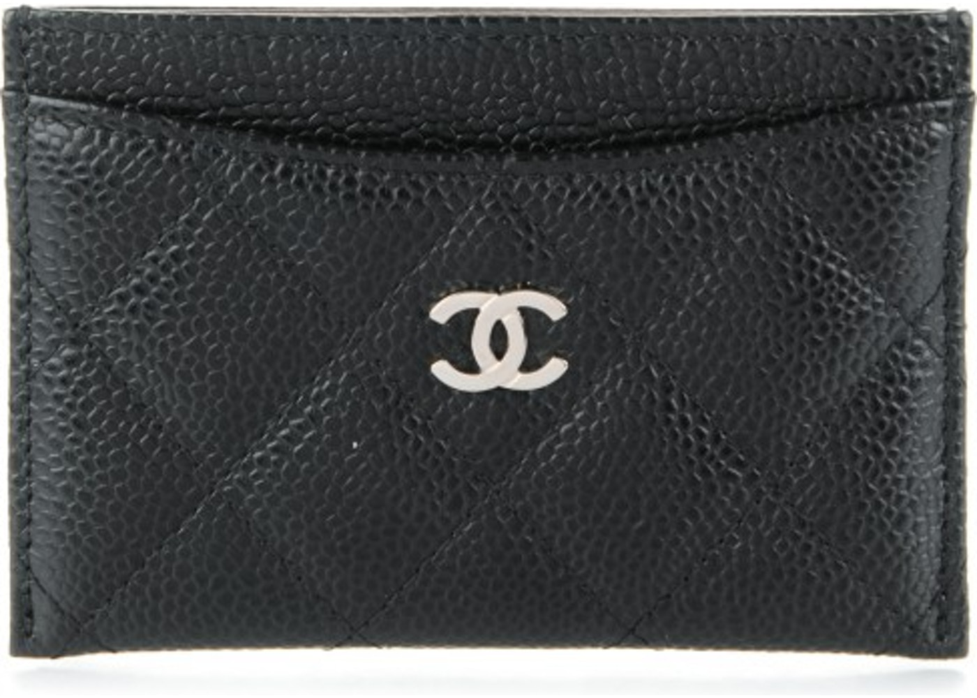 1a6fb4f3a6b Chanel Card Holder Diamond Quilted Black. Diamond Quilted Black