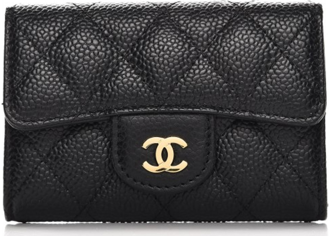 24d17e132ecb Chanel Card Holder Quilted Diamond Black. Quilted Diamond Black