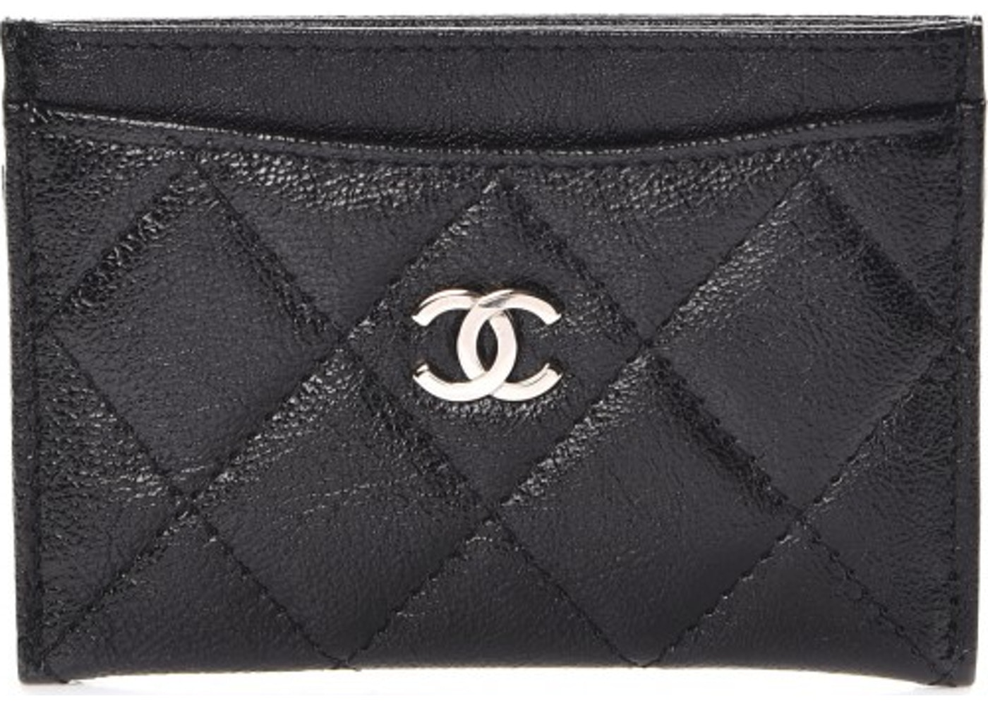 914b82c832da Chanel Card Holder Quilted Diamond Glazed Black. Quilted Diamond Glazed  Black